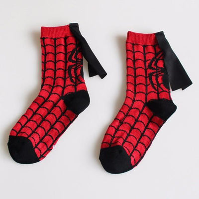 4 Pair Super Hero Cape Socks - Superman, Spiderman, Batman & The Flash, Accessories, ULANI, ULANI