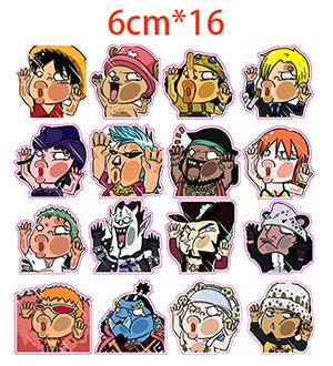 ONE PIECE Crash On Glass OP Stickers - 3M Reusable Stickers 16PCS