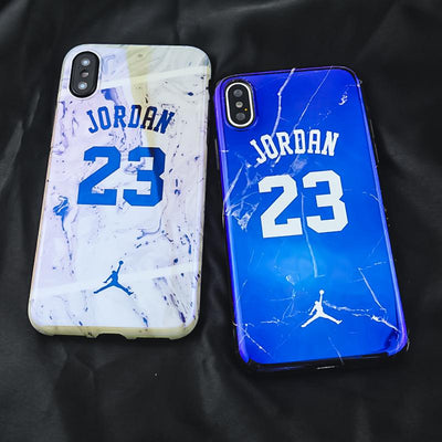 Blue Light Jordan 23 Marble Phone Case For iPhone, Phone, ULANI, ULANI