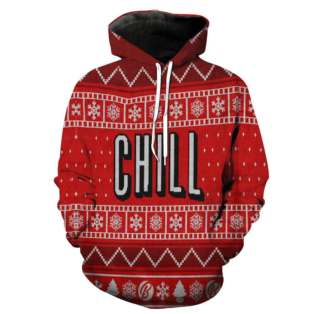 1053a69f674 Chill Red Christmas Sweater Hoodie - ULANI
