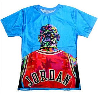 ULANI T-shirts Blue   XXS Michael Jordan NBA MJ print 3d t shirt men 32beac043c