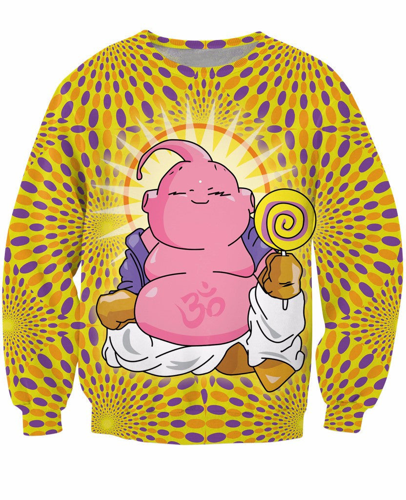 Images Of Candy Loving Beautiful dragon ball z buddha buu the candy-loving villain yellow t-shirt