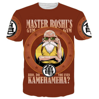 ULANI T-shirts XXS / Biege Dragon Ball Z Master Roshi's Gym Red T-shirt