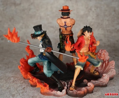 ULANI Toy One Piece 16cm 3pcs/set Luffy & Ace & Sabo 3 brother PVC Action Figure Toys