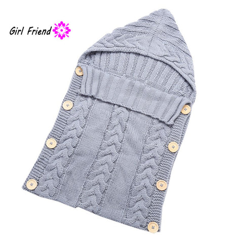 0-12 Months Newborn Baby Wrap Swaddle Blanket Kids Toddler Wool Knit Blanket Swaddle Baby Sleeping Bag Sleep Sack Stroller Wrap
