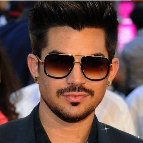 Hot Square Sunglasses Men Women Couple Flat Top Luxury Brand Design Lady Shades Celebrity Brad Pitt Sun Glasses Superstar Male