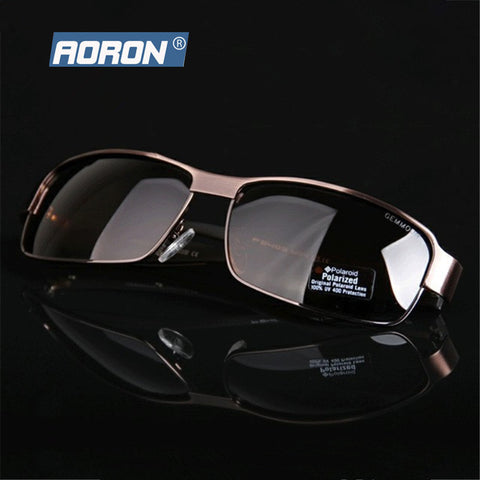 Luxury Brand Aoron Mens Polarized UV400 Sunglasses For Men's Outdoor Driving Car Sports Fishing Male Original Famous Sun Glasses