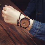 1PC New Fashion Design Brand Lovers Women Men Unisex Leather Band vintage Quartz Analog Wrist Watch relojes Gift