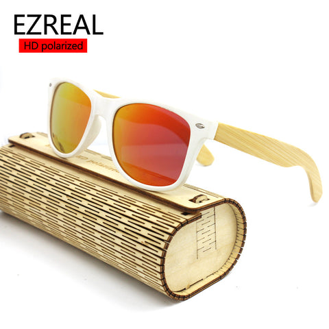 2017 Hot fashion bamboo sunglasses men women outdoor vintage wood sunglasses summer retro Drive cool wooden glasses polarized