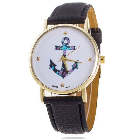 Vintage Flower & Anchor Watch
