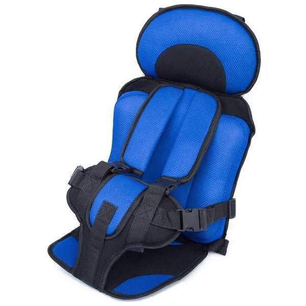 Portable Baby Safety Car Seat Kids Chairs In Car Babies Updated Version Thickening Children Infant Cotton Safe Car Seats Blue