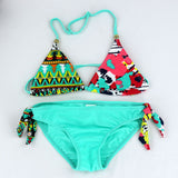 2016 New Children clothing Swimwear Baby Girls Kids Cartoon cute Bikini girls split Two Pieces swimsuit Bathing suit Beachwear
