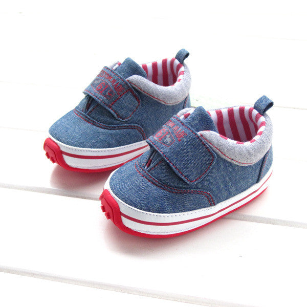 High Quality Baby Shoes Girls Boys First Walkers 2016 Denim Cool Boy Shoes Soft Sole Prewalkers Casual Infant Toddler Shoes