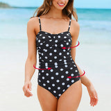NAKIAEOI One Piece Swimsuit 2017 New Plus Size Swimwear Women Print Solid Swimwear Vintage Retro Bathing Suits Monokini Swimsuit