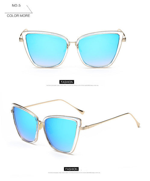 2017 Womens Fashion Cat Eye Sunglasses Women Brand Designer Retro Sun Glasses Ladies Vintage Glasses oculos de sol feminino