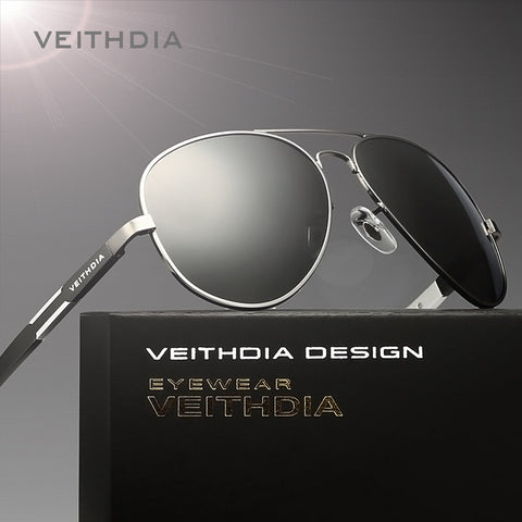 Original Famous Brand veithdia 6695 Polarized UV400 Sunglasses Men Luxury Aluminum Magnesium Glasses For Driver Sport Anti-glare