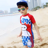 Little Boys Hot Spring Bathing Suit Long Sleeves Baby Swimwear High Quality Corsair Pattern Beach Swimsuit