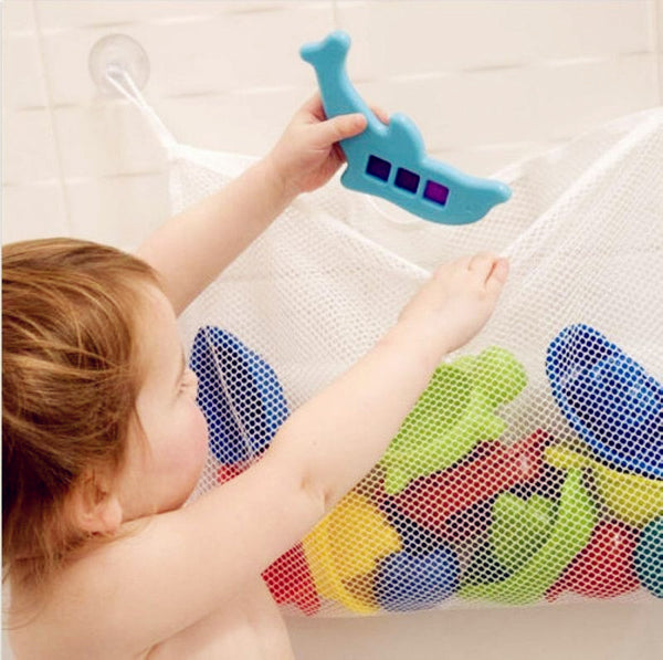 Free Shipping Kids Baby Bath Toys Tidy Storage Suction Cup Bag Baby Bathroom Toys Mesh Bag Organiser Net