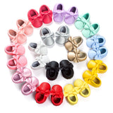 16 Colors Brand Spring Baby Shoes PU Leather Newborn Boys Girls Shoes First Walkers Baby Moccasins 0-18 Months