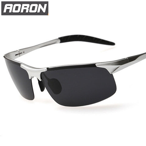 Aoron Aluminum Magnesium Polarized UV400 Sunglasses For Driving Car Sports Men Fishing Male Famous Brand Sun Glasses Men's