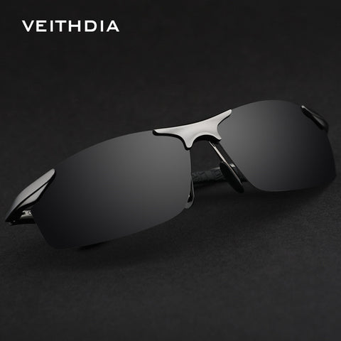 Alloy VEITHDIA New Original Polarized Sunglasses Mens Famous Brand  Sport UV400 Male Dark Glasses Safety Big Rond Glasses