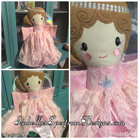 Handmade Tree Topper Angel/ Memory  Plush Doll