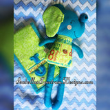 Handmade Elephant Plush Doll