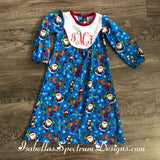 Silver Bells Nightgown handmade & personalized