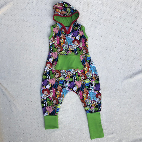 Toy Story Unisex Hooded Romper Ready to Ship
