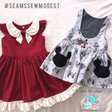 Ramona dress and coordination Pinafore