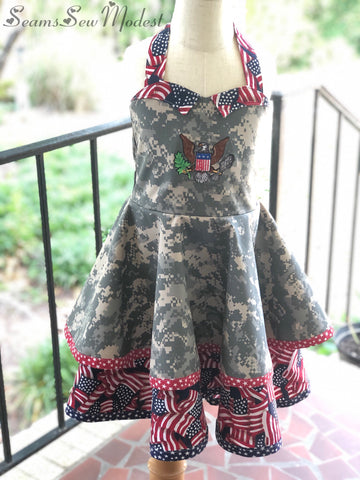 Handmade Patriotic Rockabilly Dress Ready to Ship!