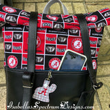Handmade Rucksack style backpack College Football Alabama
