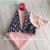Baby Lovey/ Blankie with Interchangeable head
