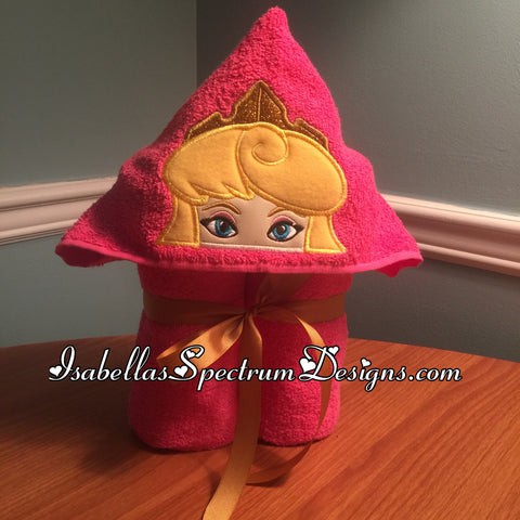 Sleeping Beauty Inspired Hooded Towel