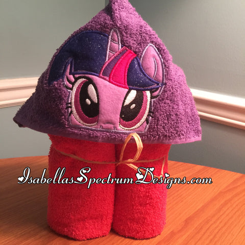 My Little Pony Twilight Sparkle Inspired Hooded Towel