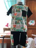 Boys pocket T-shirt and cargo shorts set