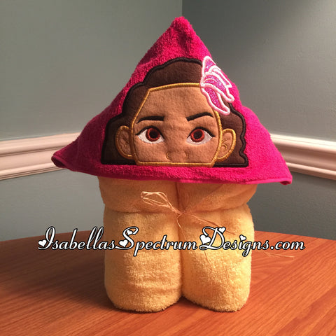 Moana Inspired Hooded Towel