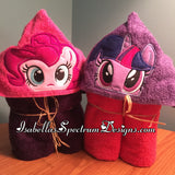 My Little Pony Pinky Pie Inspired Hooded Towel