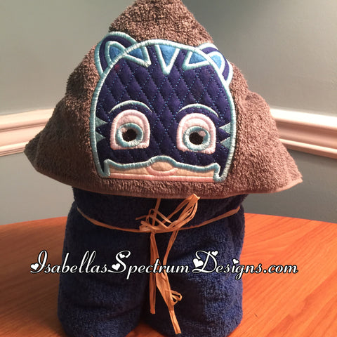 PJ Masks Catboy Inspired Hooded Towel