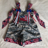 God Bless the USA romper ready to ship!