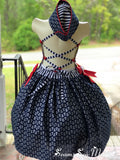One of a kind U.S. Navy inspired dress with matching hat Ready To ship!