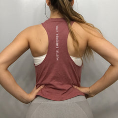 Rose Hustle + Empower Muscle Tank