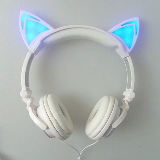 Cute Cat Light-up Headphones
