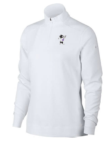 NIKE Women's Dri-Fit UV 1/4 Zip (White)