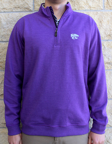 Powercat Blended Cotton Melange ¼ Zip (Purple)