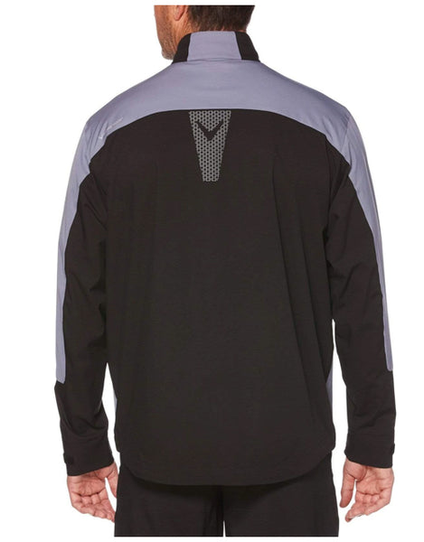 K-State Callaway Full Zip Windshirt (Black/Grey)