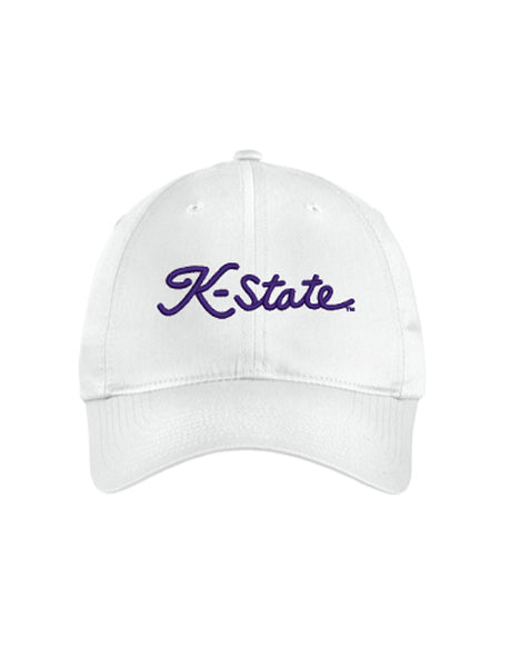 NIKE Unstructured K-State Script Hat (White)