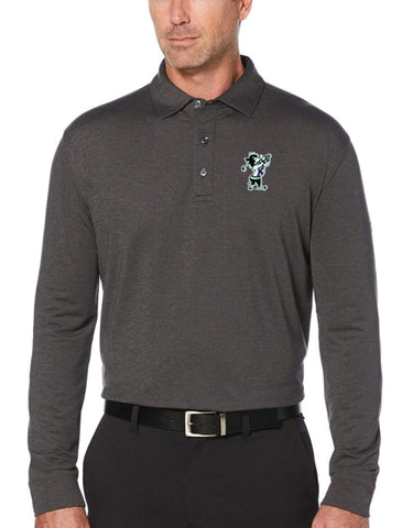 K-State Callaway Long Sleeve Polo (Heathered Grey)