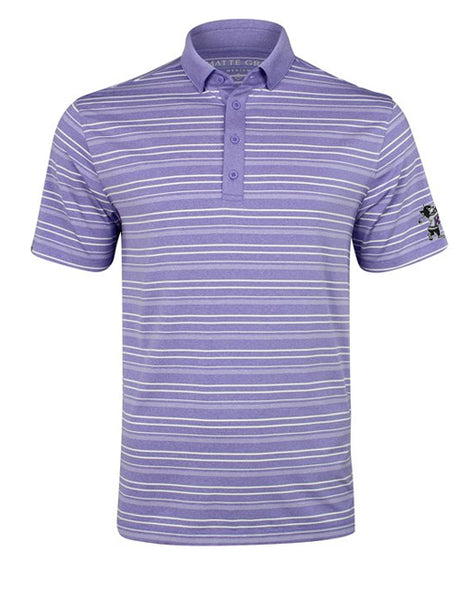 K-State MATTE GREY Coop Polo (Amethyst Heather/White)
