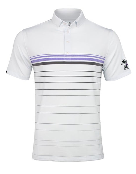 K-State MATTE GREY Horizon Polo (Carbon/Amethyst Heather)